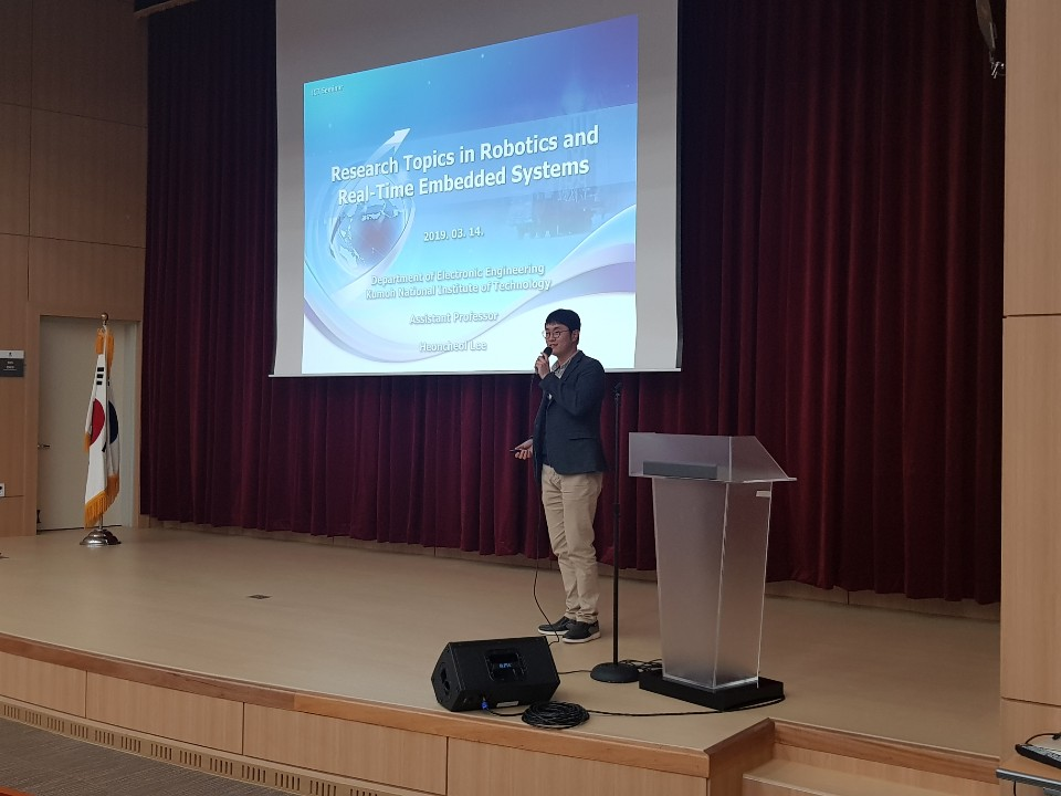 2019.03.14_Prof.Hyun Cheol Lee(KIT)_Introduction of ICT-CRC (Robotics and Embedded System)